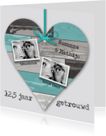 Huwelijksjubileum Steigerhout Hart