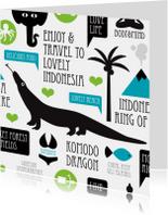 Indonesië reizen illustratie kaart