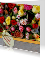 Italiaanse rozen hout label lint