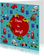 Jarig auto feest by Cartita Design -1