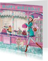 Jarig Patisserie Cupcake Taart Meisje