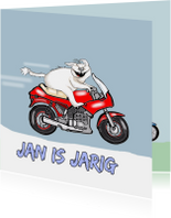 Jarige motorrijder