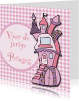 Verjaardagskaarten - Jarige prinses in kasteel