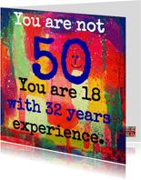 Je bent geen vijftig