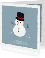 Jeugdfonds Sport & Cultuur Kerstkaart Sneeuwpop