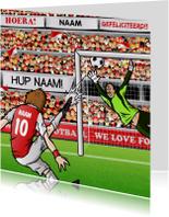 JIJ SCOORT DE GOAL - voetbal kaart