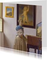 Johannes Vermeer. Jonge vrouw bij een virginaal