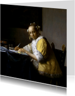Johannes Vermeer. Schrijvende vrouw