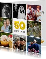 Jubiläumskarte Fotocollage Goldene Hochzeit