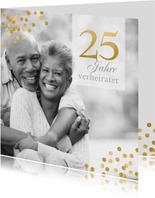 Jubiläumskarte mit Foto zum 25. Hochzeitstag