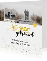 Jubileum - 40 jaar samen feestje foto