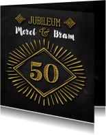 Jubileum 50 goud krijt - SG