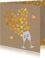 Jubileum 50 gouden hartjes
