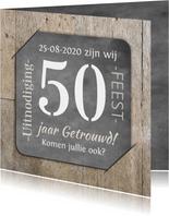 Jubileum 50 hout en foto RB