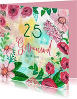 Jubileum Getrouwd 25 jaar bohemian bloemen