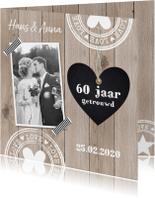Jubileum houtprint foto hartje