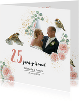 Jubileum huwelijk rozen botanical