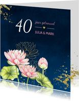 Jubileum lotusbloemen