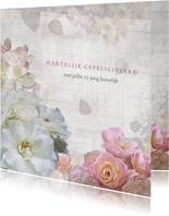 Jubileum met rozen en hortensia