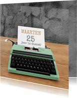 Jubileum - Typemachine groen