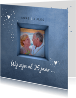 Jubileum uitnodiging 25 jaar gelukkig met elkaar