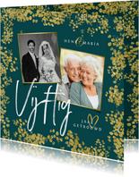 Jubileum uitnodiging 50 jaar vijftig goud confetti foto