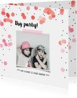 Jubileum uitnodiging confetti feest