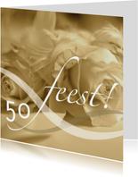 Felicitatiekaarten - jubileum vijftig tekst variabel sepia