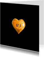 Jubileumkaart 12,5 jaar huwelijk uitnodiging