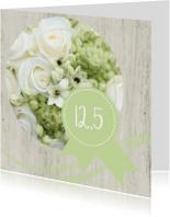 Jubileumkaart 12.5 roos