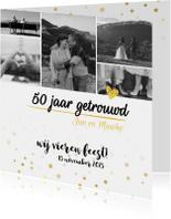 Jubileumkaart - 50 jaar getrouwd fotocollage