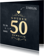 Jubileumkaart 50 jaar krijtbord