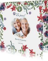 Jubileumkaart bohemian bloemen
