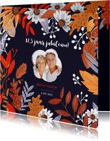Jubileumkaart herfstbladeren