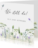 Jubileumkaart huwelijk veldbloemen