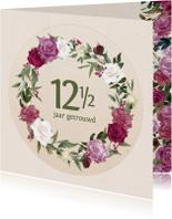 Jubileumkaart met rozenkrans