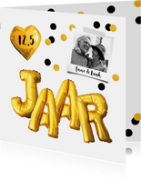 Jubileumkaart trouwdag uitnodiging feest goud