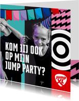 Jump XL kinderfeest uitnodiging Jongen/Meisje