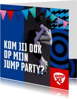 Jump XL kinderfeest uitnodiging Jongen