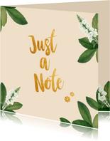 Just a not - botanische zomaarkaart