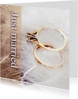 Felicitatiekaarten - Just married rings