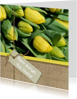 Jute en tulpen geel