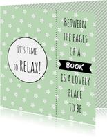 Kaart boekenlegger Relax - WW