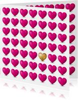 Kaart met  hartjes voor iemand met een hart van goud