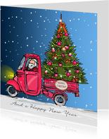 kaart Vespa kerstboom label1