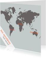 Kaart Wereldreis