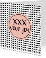 """Kaart """"xxx voor jou"""" - WW"""