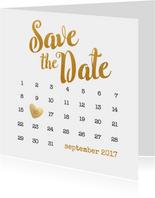 Kalender goud Save the Date - BK