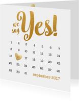 Kalender goud We say yes! - BK