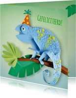 Kameleon verjaardagskaart